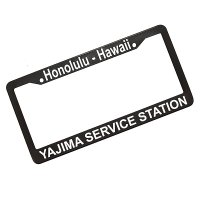 YAJIMA SS Frame  HONOLULU HAWAII license plate frames