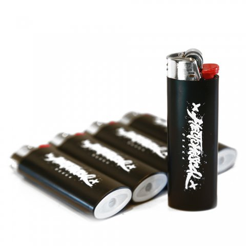 Hectopascal Original   Logo BIC Lighter Black/White
