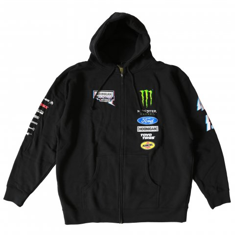 HOONIGAN  HRD DSC OFFICIAL TEAM ジップアップパーカー BLACK