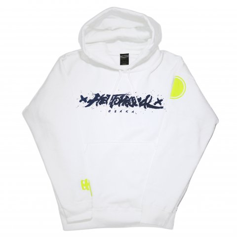 Hectopascal Original  Logo Pullover Hoodie White/Navy