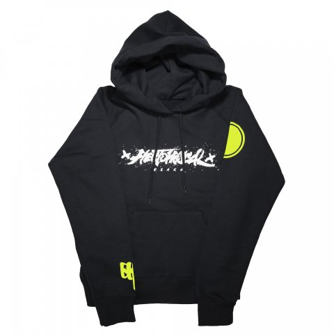 Hectopascal Girls  Logo Pullover Hoodie Black/White