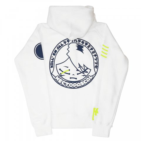 Hectopascal Girls  Kill'em zipup Hoodie White/Navy