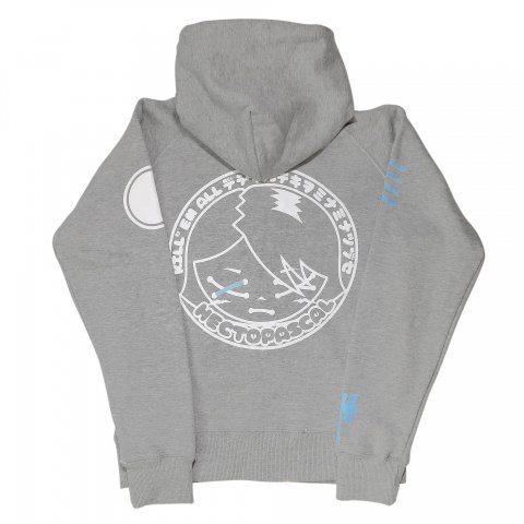 Hectopascal Girls  Kill'em zipup Hoodie Heather Gray/White