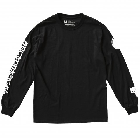 Hectopascal Original   Kanji Long Sleeve Tee Black/White