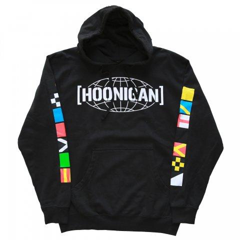 HOONIGAN  FLAGS HOODIE BLACK