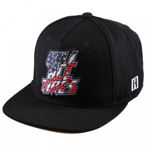 HOONIGAN  KILL ALL TIRES SNAPBACK HAT BLACK/BLUE/RED