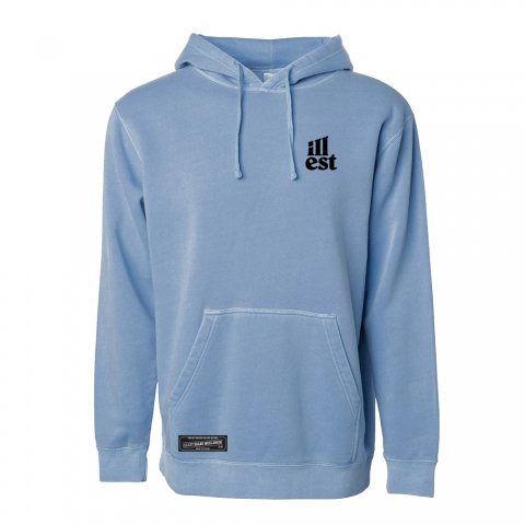 illest  NONE BUT OURSELVES HOODY  SLATE BLUE