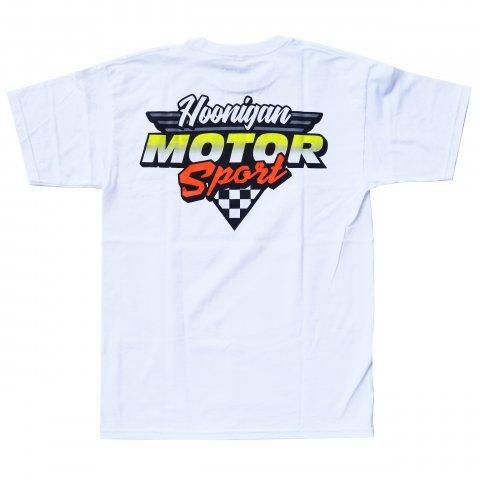 HOONIGAN  HNGN MOTORSPORT TEE WHITE