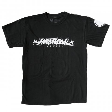Hectopascal 2019 S/S   Brush Logo Tee Black×White