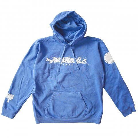 Hectopascal 2019 S/S   Brush Logo Pull over Hoodie Royal Blue×White