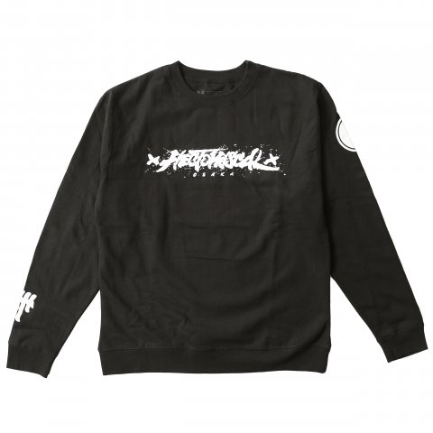 Hectopascal 2019 S/S   Brush Logo Crew Black×White
