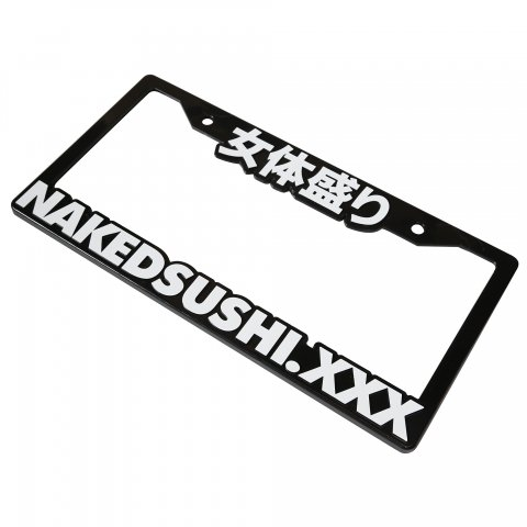 NAKED SUSHI LICENSE PLATE FRAME BLACK