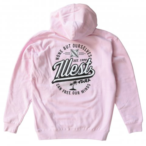 illest  BADGE HOODY BABY PINK