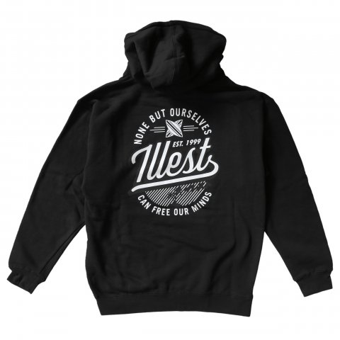 illest  BADGE HOODY BLACK