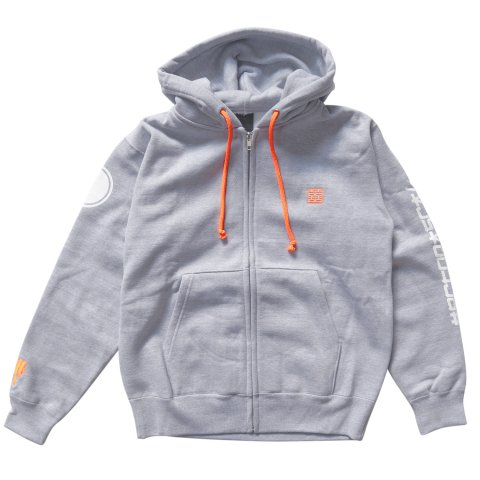 Hectopascal  HCTO Zipup Hoodie Heater Gray / Neon Orange