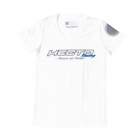 Hectopascal  HECTO XX Racing Tee  White×Reflector  レディース