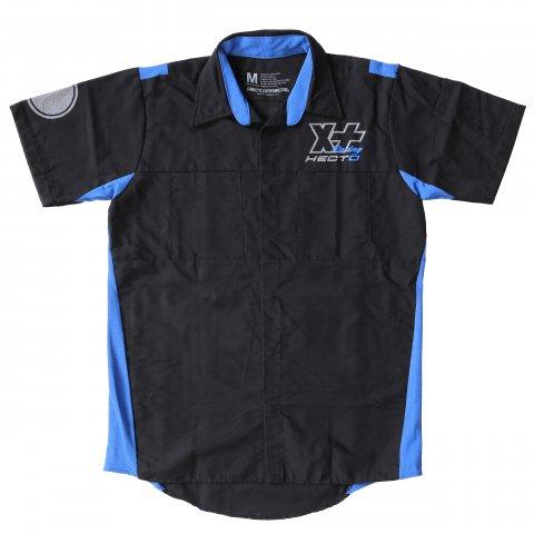 Hectopascal  HECTO XX Racing Work Shirt  Black×Reflector×Blue