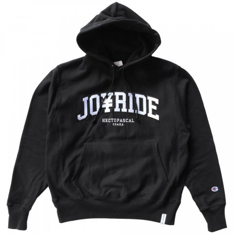 Hectopascal Original  JOY RIDE Champion Hoodie Black/White