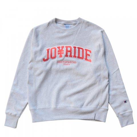 Hectopascal Original  JOY RIDE Champion トレーナー   Silver/Salmon Pink