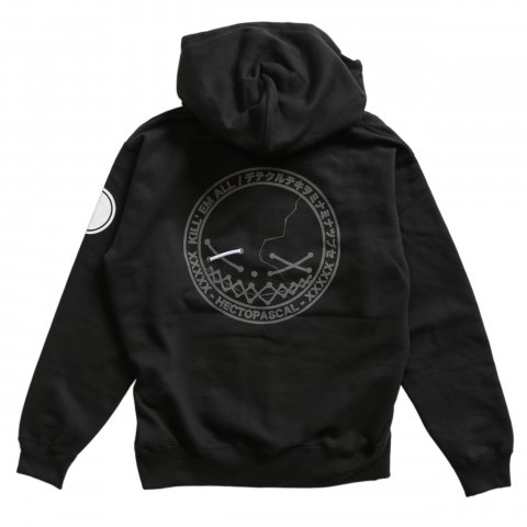 Hectopascal  KILLEM ZIP UP HOODIE Reflector/Black