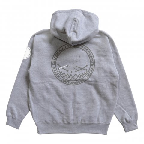 Hectopascal  KILLEM ZIP UP HOODIE Reflector/Heather Gray