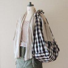 【発送】【ミニレシピ】あずま袋風のレジかごエコバッグ