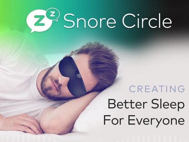 いびき防止アイマスク「スノアサークル スマートアイマスク(Snore Circle Smart Eye Mask)」