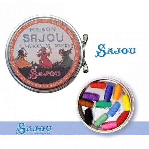 フランス SAJOU ラベル缶 糸セット BTE-MET-11【ビビットカラー】【画像3】