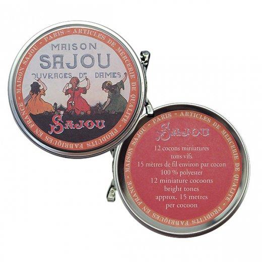 フランス SAJOU ラベル缶 糸セット BTE-MET-11【ビビットカラー】【画像5】