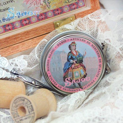 フランス SAJOU ラベル缶 糸セット【パステルカラー】【画像2】