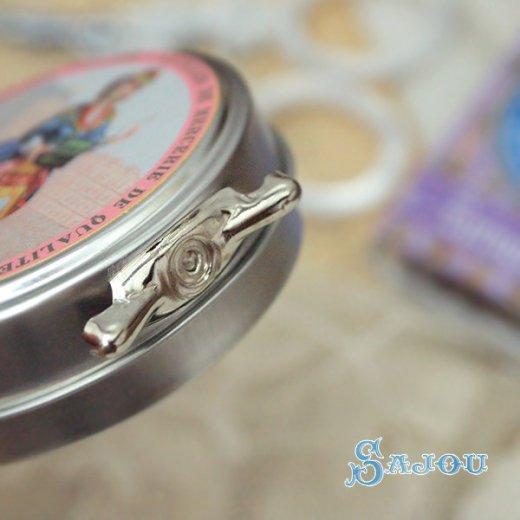 フランス SAJOU ラベル缶 糸セット【パステルカラー】【画像3】