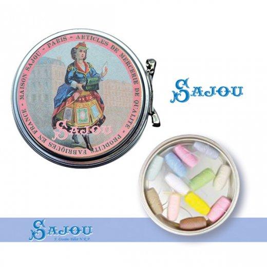 フランス SAJOU ラベル缶 糸セット【パステルカラー】【画像4】