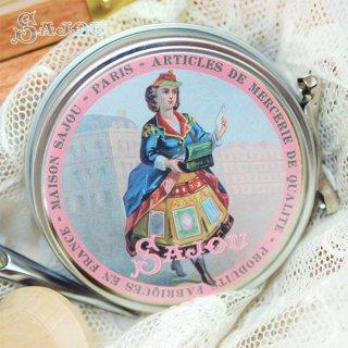 フランス SAJOU ラベル缶 糸セット BTE-MET-12【パステルカラー】
