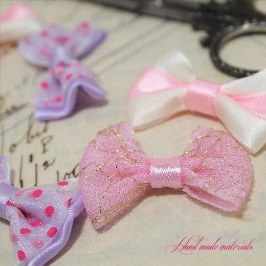 ガーリー クラフト リボン ハンドメイド素材【ピンク系 MIX】【画像3】