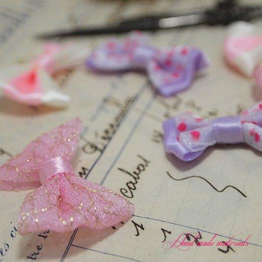 ガーリー クラフト リボン ハンドメイド素材【ピンク系 MIX】【画像4】