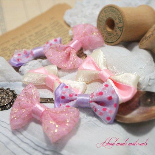ガーリー クラフト リボン ハンドメイド素材【ピンク系 MIX】【画像5】