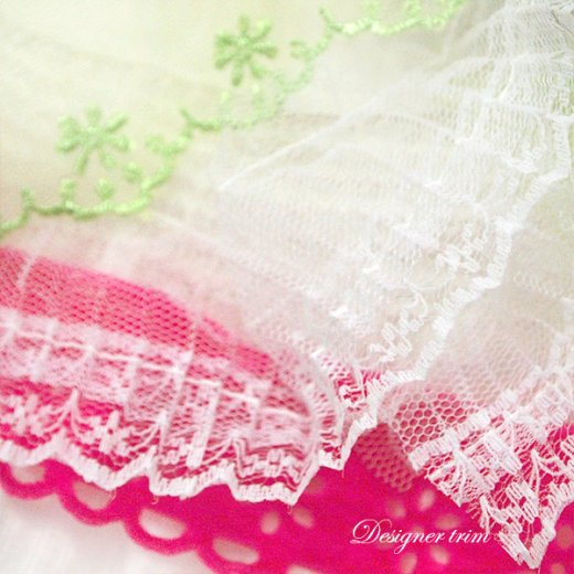 Webster's  pages レース リボン テープセット 【 Pink 】ハンドメイド&リメイク素材 【画像5】