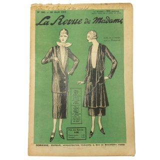 ビンテージ/アンティーク本 フランス La mode madame 1925年 アンティーク モード誌【No.183】