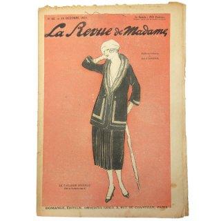 ビンテージ/アンティーク本 フランス La mode madame 1920年 アンティーク モード誌【No.65】