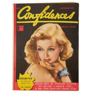 ビンテージ/アンティーク本 フランス confidences 1938年 アンティーク シネマ誌【No.17】