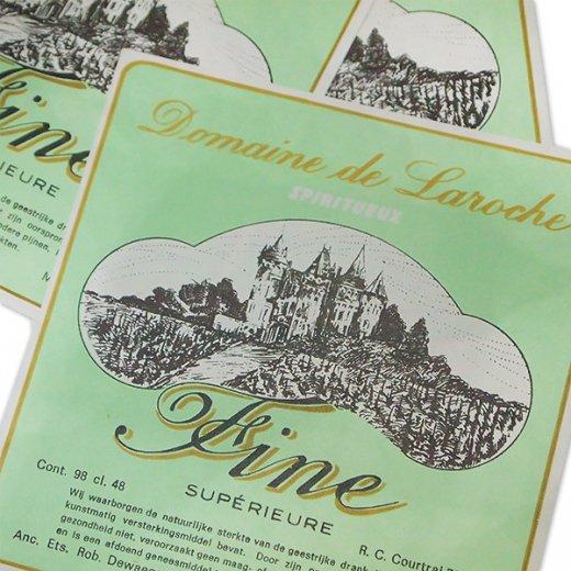 ベルギー ヴィンテージ リキュールラベル グリーン【Domaine de Laroche】【画像3】