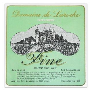 味紙 ラベル チケット 伝票 ベルギー ヴィンテージ リキュールラベル グリーン【Domaine de Laroche】