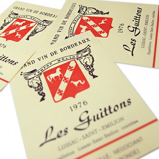 フランス ヴィンテージ リキュールラベル【Les guittons】【画像3】