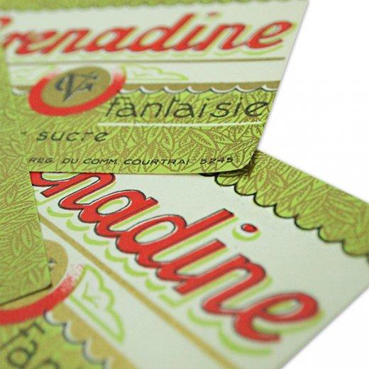 フランス ヴィンテージ シロップラベル【Grenadine sirop de fantaisie】【画像3】