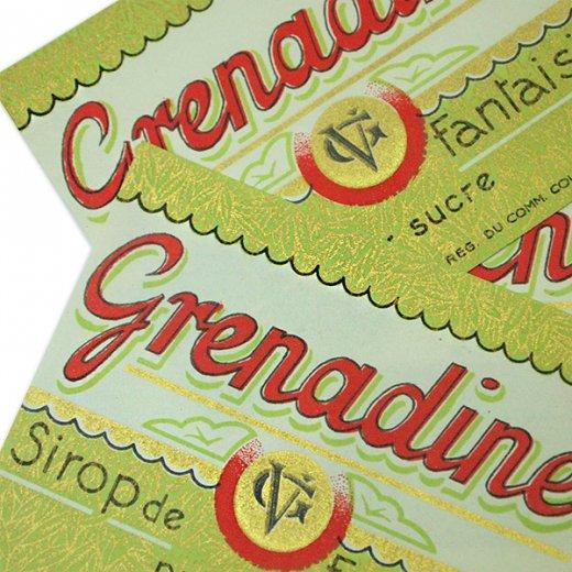 フランス ヴィンテージ シロップラベル【Grenadine sirop de fantaisie】【画像4】