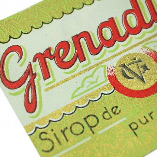 フランス ヴィンテージ シロップラベル【Grenadine sirop de fantaisie】【画像5】