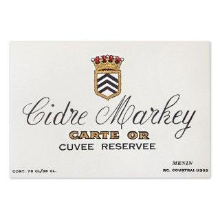 味紙 ラベル チケット 伝票 フランス ヴィンテージ リキュールラベル【Cidre Markey】