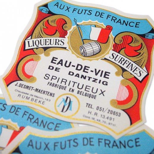 フランス ヴィンテージ ワインラベル【Aux futs de france】【画像3】