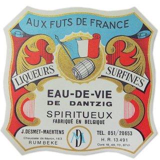 味紙 ラベル チケット 伝票 フランス ヴィンテージ ワインラベル【Aux futs de france】