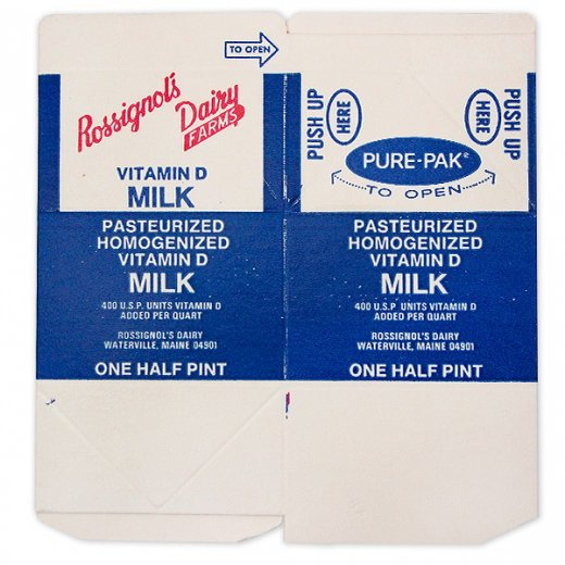 1960年代 デッドストック パッケージ (ビタミンミルク)【画像3】